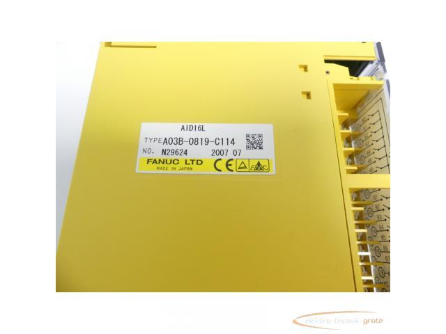Fanuc A03B-0819-C114 Module AID16L No. N29624 - 2