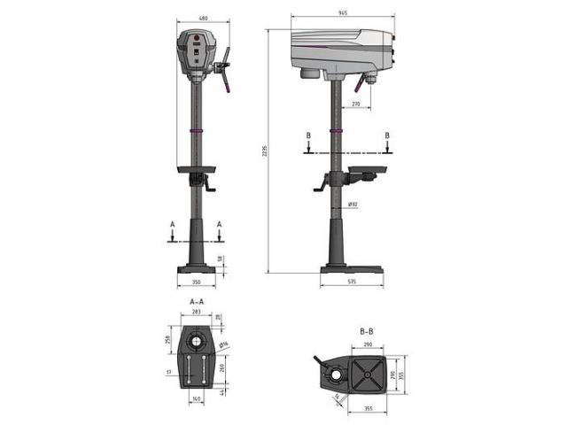 Optimum OPTIdrill DP33 SET Säulenbohrmaschine mit Schraubstock - 3