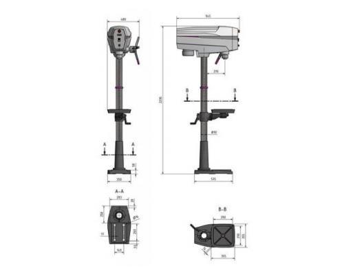 Optimum OPTIdrill DP33 SET Säulenbohrmaschine mit Schraubstock - Bild 3