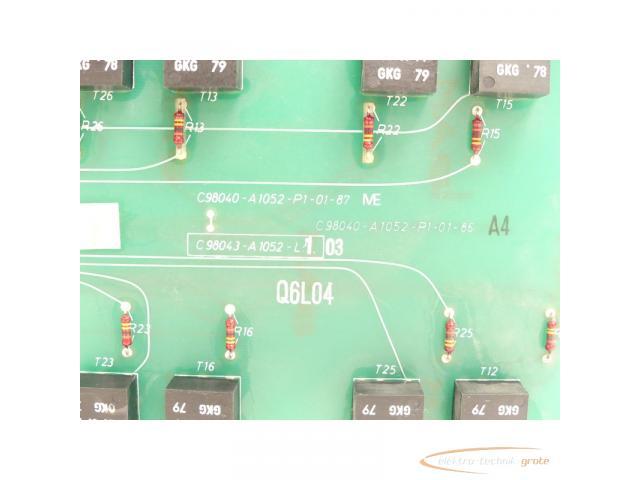 Siemens C98043-A1052-L1 / 03 Steuerungsplatine SN:Q6L04 - 4