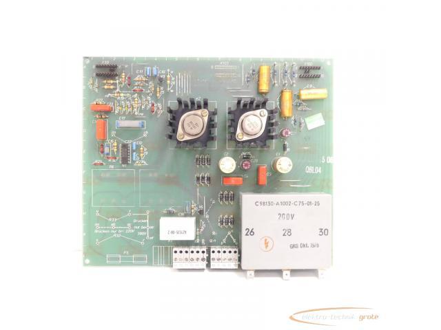 Siemens C98043-A1001-L5 / 06 Steuerungsplatine SN:Q6L04 - 2