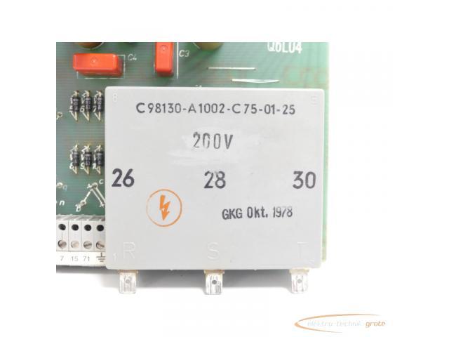 Siemens C98043-A1001-L5 / 06 Steuerungsplatine SN:Q6L04 - 3