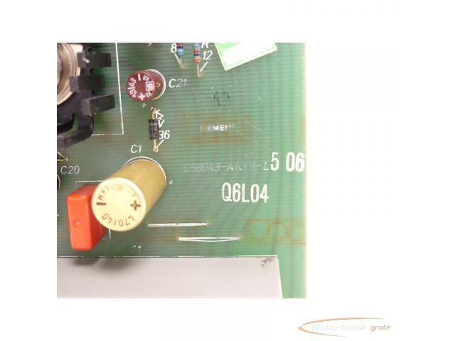 Siemens C98043-A1001-L5 / 06 Steuerungsplatine SN:Q6L04 - 5