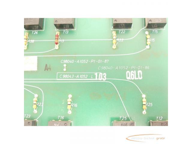 Siemens C98043-A1052-L1 / 03 Steuerungsplatine SN:Q6L0 - 4