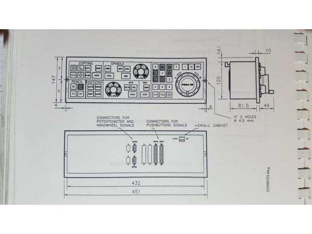 Fidia Maschinenbedienfeld PB14 - 1