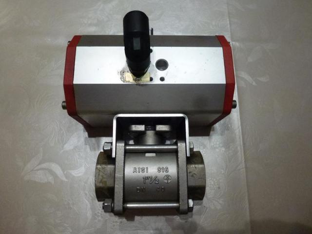 Schwenkantrieb EMD EE620702 pneumatisch federrücks.mit Kugelhahn - 1