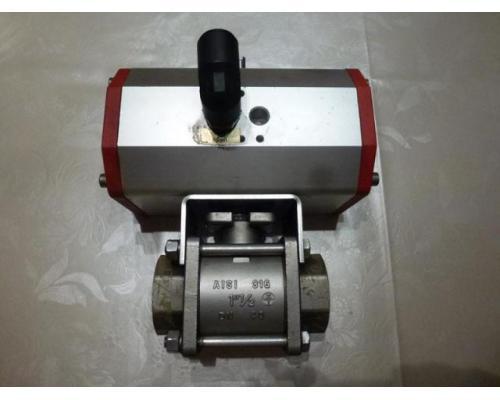 Schwenkantrieb EMD EE620702 pneumatisch federrücks.mit Kugelhahn - Bild 1