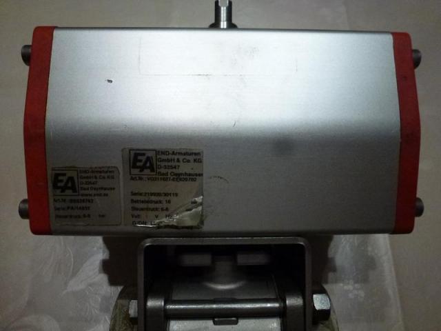 Schwenkantrieb EMD EE620702 pneumatisch federrücks.mit Kugelhahn - 4
