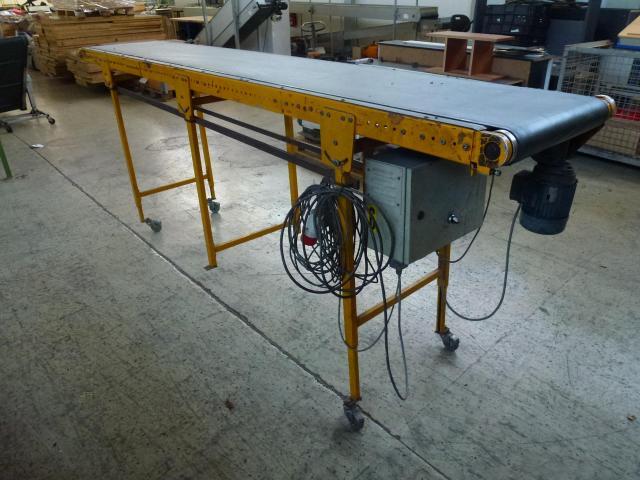 Förderband Gurtförderer 300x50x115cm 0,25 kW in Höhe und Winkel verst. - 2