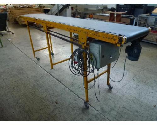 Förderband Gurtförderer 300x50x115cm 0,25 kW in Höhe und Winkel verst. - Bild 2