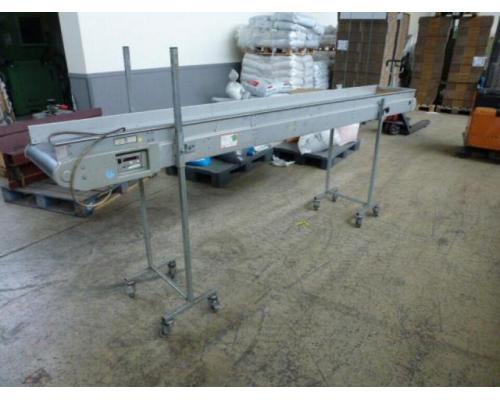 Förderband Gurtförderer 300x50x115cm 0,25 kW in Höhe und Winkel verst. - Bild 7