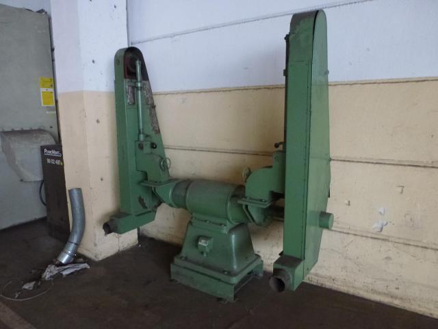 Doppel Bandschleifmaschine Heidenau SEPN 5/5p6 + 30 Bänder LS309X - 2
