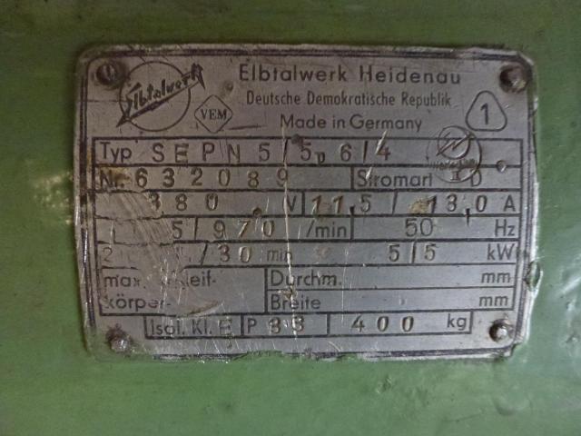 Doppel Bandschleifmaschine Heidenau SEPN 5/5p6 + 30 Bänder LS309X - 7