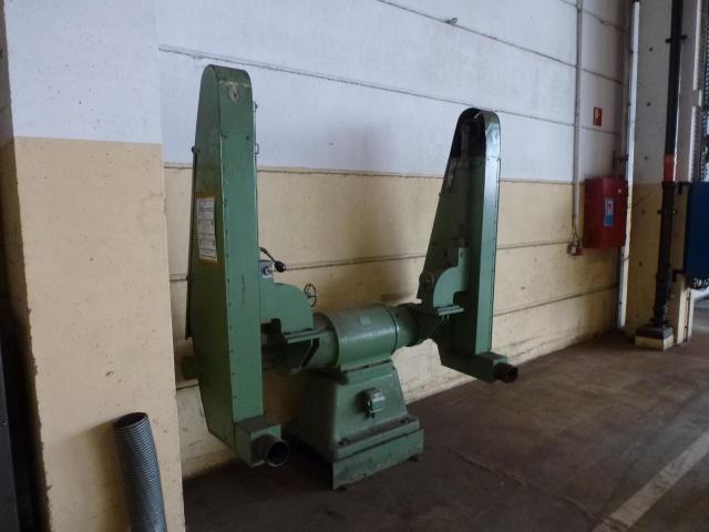 Doppel Bandschleifmaschine Heidenau SEPN 5/5p6 + 30 Bänder LS309X - 8