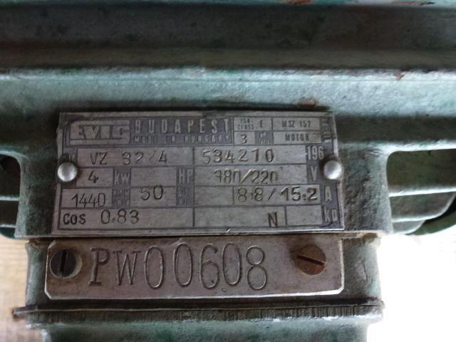 Elektromotor Evic MSZ 152 220/380 V 4,0 kW 14401/min Welle 24 mm - 3