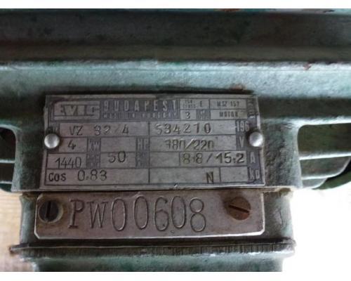 Elektromotor Evic MSZ 152 220/380 V 4,0 kW 14401/min Welle 24 mm - Bild 3