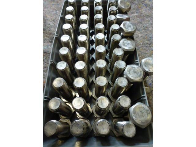 48 x Sechskantschrauben M24 x 75 Vollgewinde aus Edelstahl A2-70 - 2