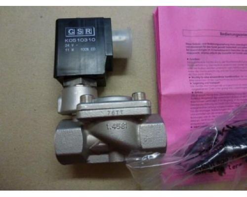 "Magnetventil Servo. GSR D4022/0802/.0322 3/8"", 24 V Edelstahl neu - Bild 1"
