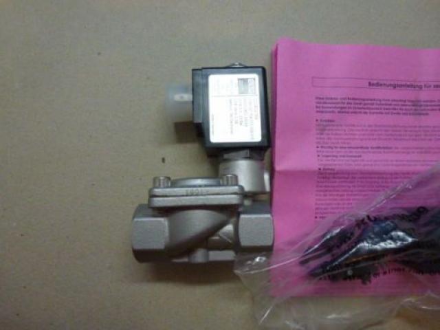 "Magnetventil Servo. GSR D4022/0802/.0322 3/8"", 24 V Edelstahl neu - 4"