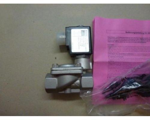 "Magnetventil Servo. GSR D4022/0802/.0322 3/8"", 24 V Edelstahl neu - Bild 4"