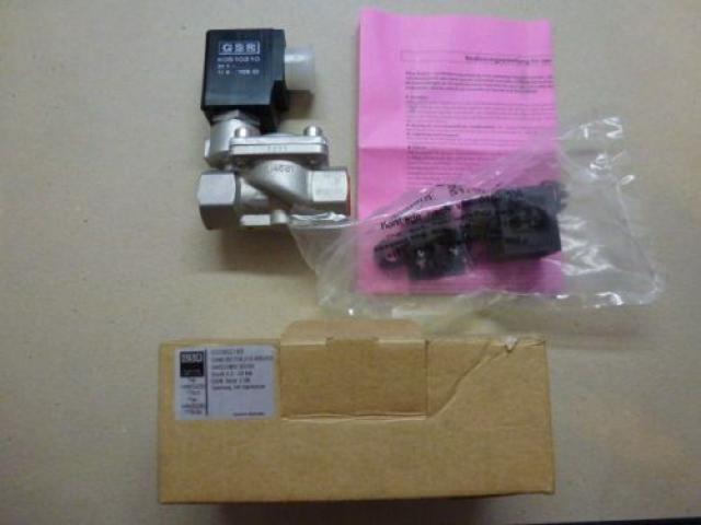"Magnetventil Servo. GSR D4022/0802/.0322 3/8"", 24 V Edelstahl neu - 6"