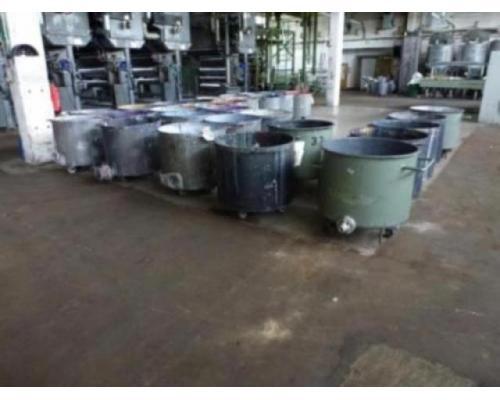 10 Farbmischkübel Mischkessel Rührwerksbehälter Drais 300l rollb. - Bild 1