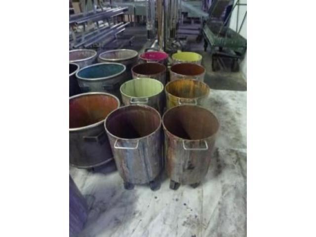 10 Farbmischkübel Mischkessel Rührwerksbehälter Drais 300l rollb. - 8