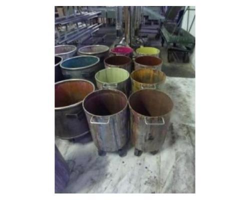 10 Farbmischkübel Mischkessel Rührwerksbehälter Drais 300l rollb. - Bild 8