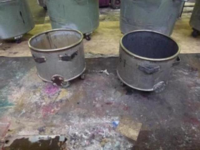 10 Farbmischkübel Mischkessel Rührwerksbehälter Drais 300l rollb. - 10