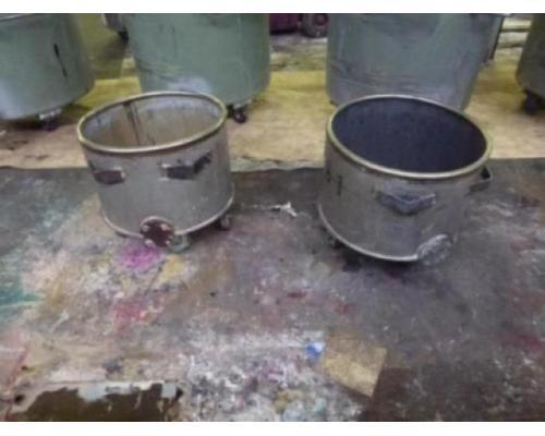 10 Farbmischkübel Mischkessel Rührwerksbehälter Drais 300l rollb. - Bild 10