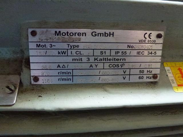 Elektromotor STORK KMER 160L2 380/660 V 18,6 kW 1415 1/min - 8