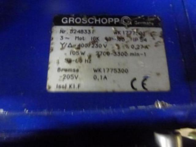 Getriebemotor GROSCHOPP 105 W WK1777504 mit Bremse - 4