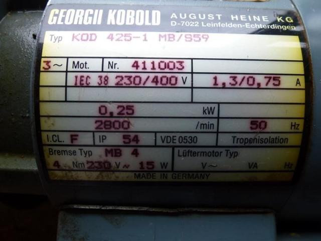 Getriebemotor GROSCHOPP 105 W WK1777504 mit Bremse - 6