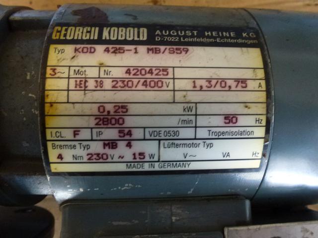 Getriebemotor GROSCHOPP 105 W WK1777504 mit Bremse - 12