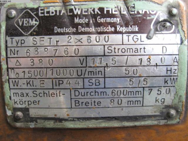 VEB ELBTHALWERK Doppelschleifbock SET r 2x600 - 4
