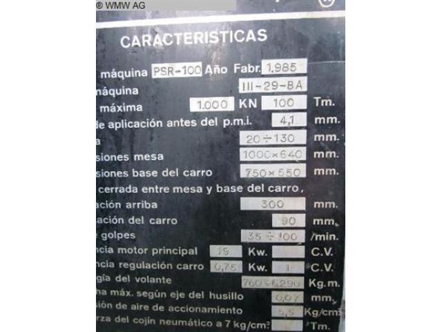 TACI ARRASATE Doppelständerexzenterpresse PSR 100 - 5