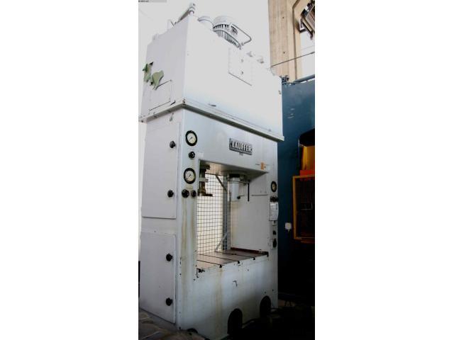 LAUFFER & BUTSCHER hydraulische Doppelständer (zieh) presse RA 80/30 - 1