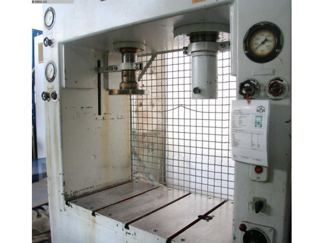 LAUFFER & BUTSCHER hydraulische Doppelständer (zieh) presse RA 80/30 - 2