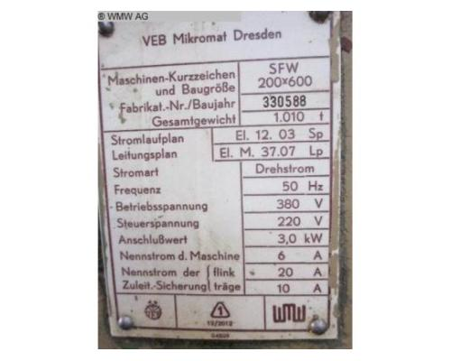 WMW MIKROMAT Flachschleifmaschine - Horizontal SFW 200x600 - Bild 2