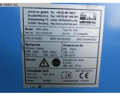 ULTRATROCK Kältetrockner HPD 0060 Typ602 - Bild 5