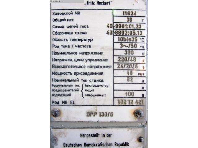 UNION Plattenbohrwerk - Horizontal BFP 130/6 - 6