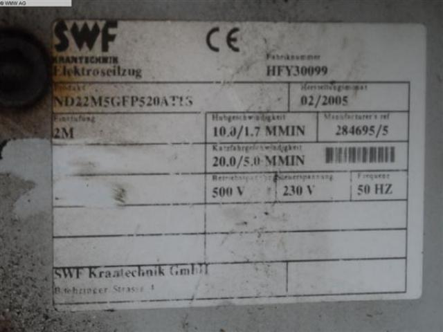 SWF KRANTECHNIK Krananlage ND22M5GFP520AT1S - 5