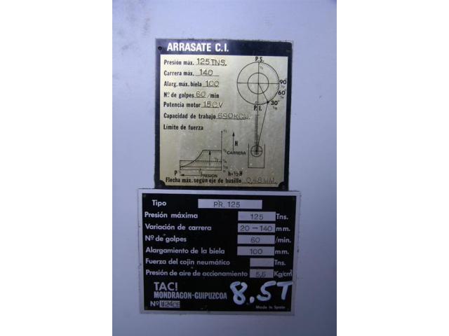 TACI ARRASATE Einständerexzenterpresse PR. 125 - 6