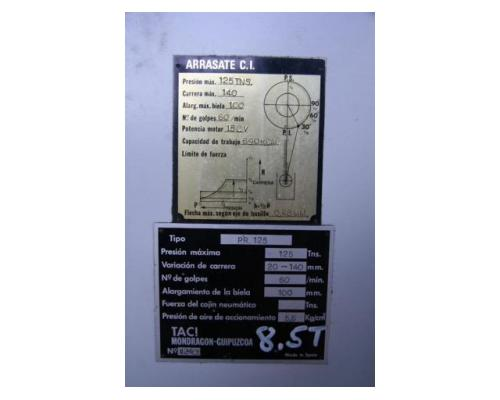 TACI ARRASATE Einständerexzenterpresse PR. 125 - Bild 6