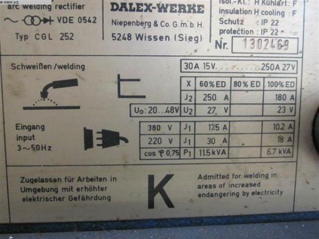 DALEX Schweißanlage CGL 252 - 2