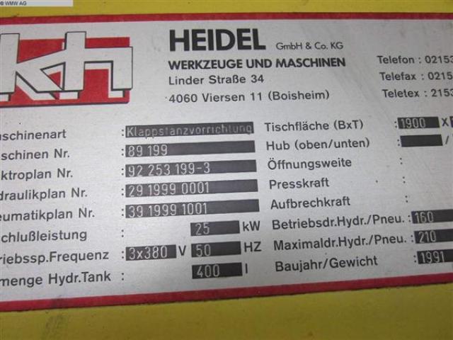HEIDEL Stanz-Scher-Anlage MB W 140 OP 4 - 6
