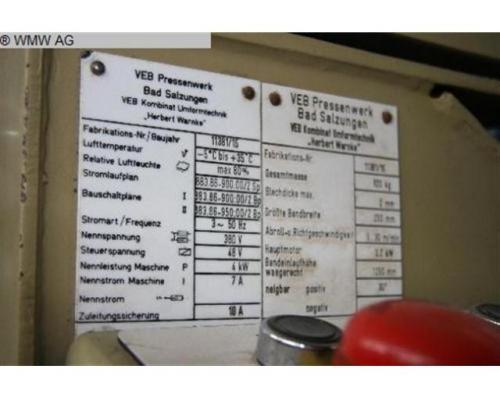 WMW - BAD SALZUNGEN Vorschubrichtmaschine MAR 250/2 - Bild 5