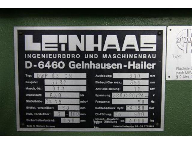 LEINHAAS Einständerpresse - Hydraulisch DWP 63  CN - 5