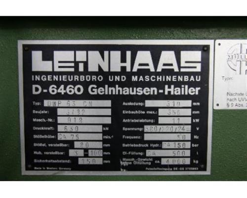 LEINHAAS Einständerpresse - Hydraulisch DWP 63  CN - Bild 5
