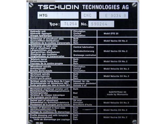 TSCHUDIN Rundschleifmaschine - Einstich TL 25 A - 6
